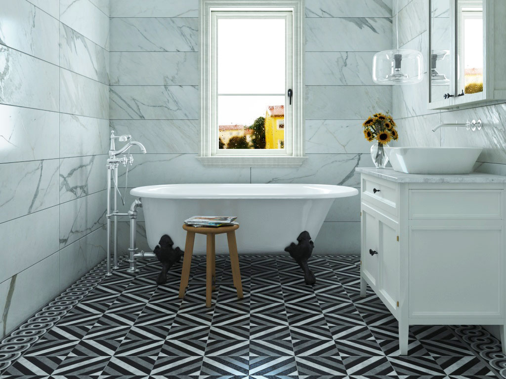 The allure of cement patterned tile - Interiors by Kitchen Koncepts