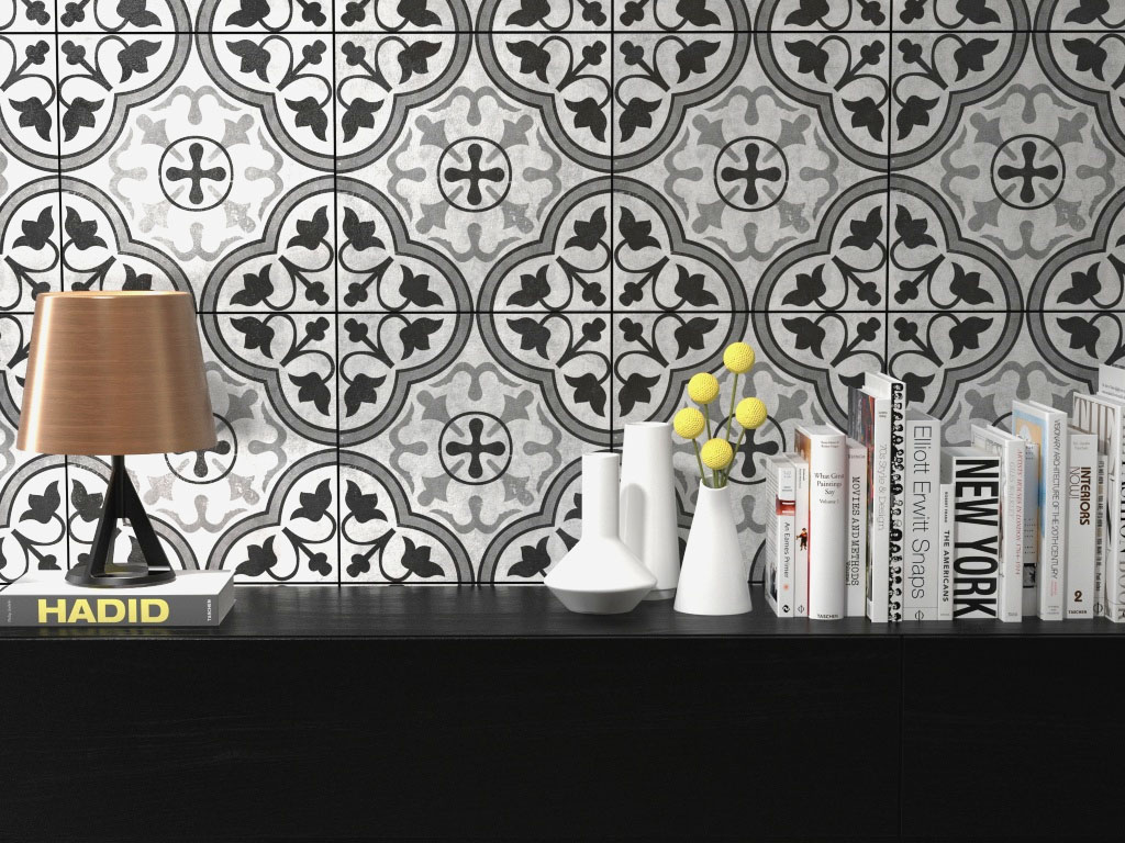 The allure of cement patterned tile